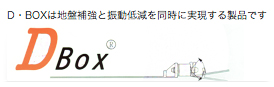 DBOXは地盤補強と振動低減を同時に実現する製品です